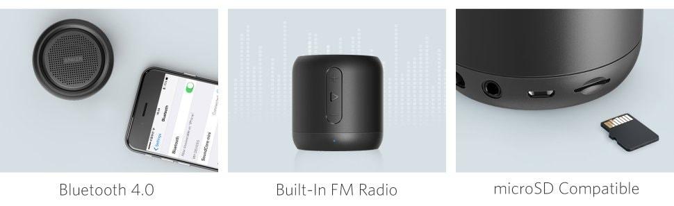 Loa Bluetooth Anker Soundcore Minisử dụng kết nối Bluetooth 4.0