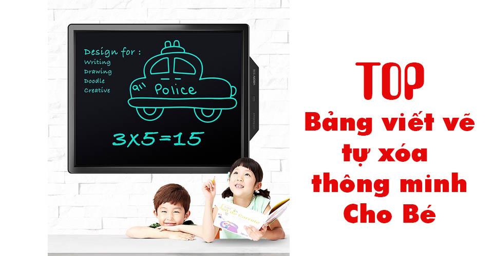 Top các loại bảng viết vẽ tự xóa thông minh dành cho bé nên mua