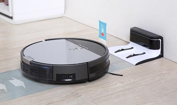 Robot hút bụi lau sàn V8s sẽ tự nhận biết khi máy sắp hết pin