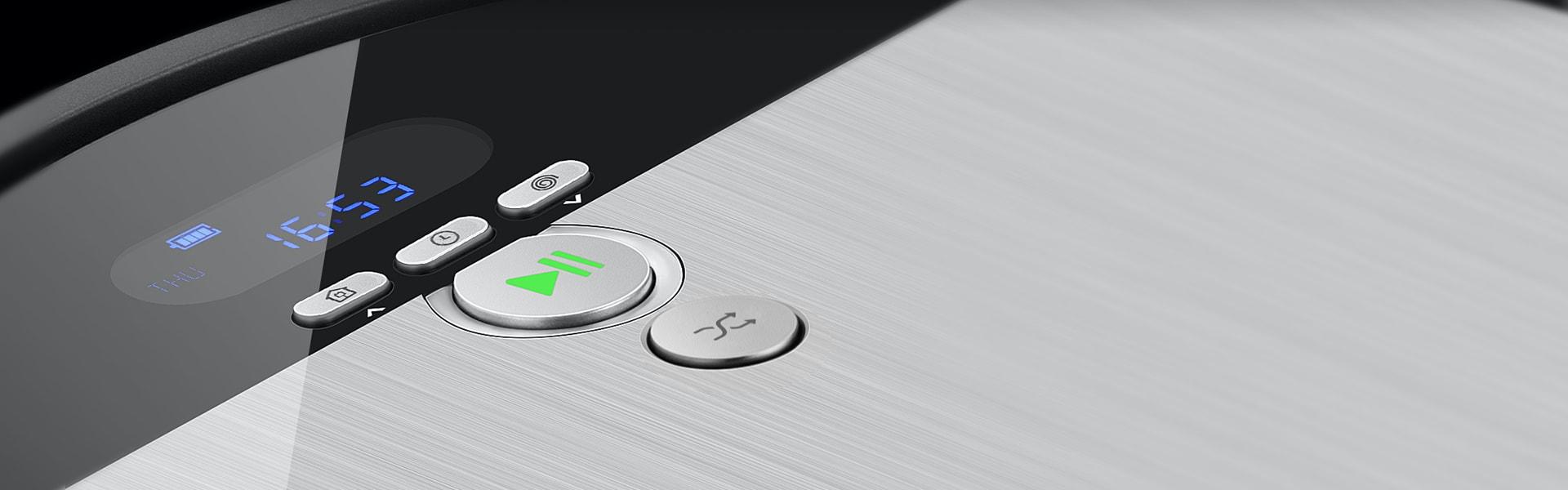 Robot hút bụi lau sàn ILife V8s được thiết kế phím cơ và màn hình LCD