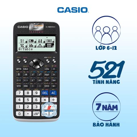 Máy tính Casio FX-580VN X còn có khả năng hiển thị số ký tự gấp 2 lần
