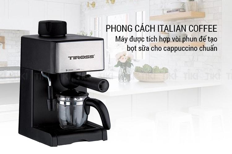 Thiết kế Máy pha cà phê espresso Tiross TS621