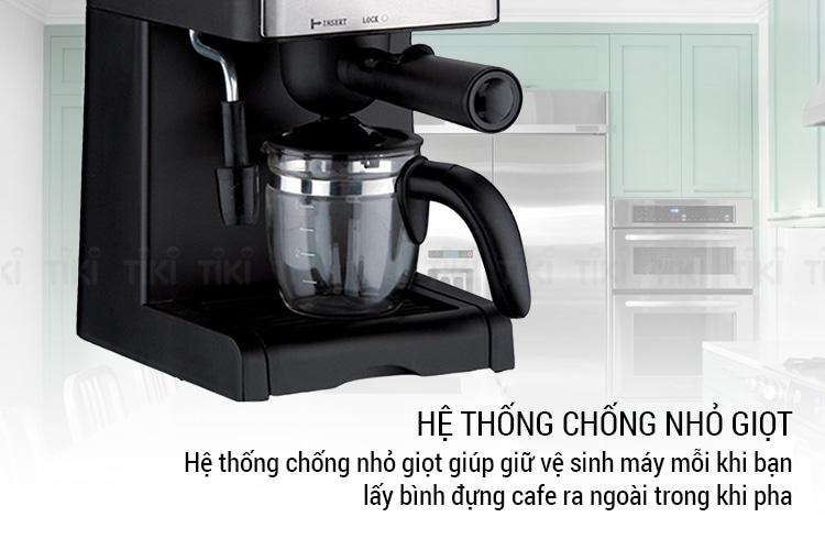 Máy pha cà phê espresso Tiross TS621 chống nhỏ giọt