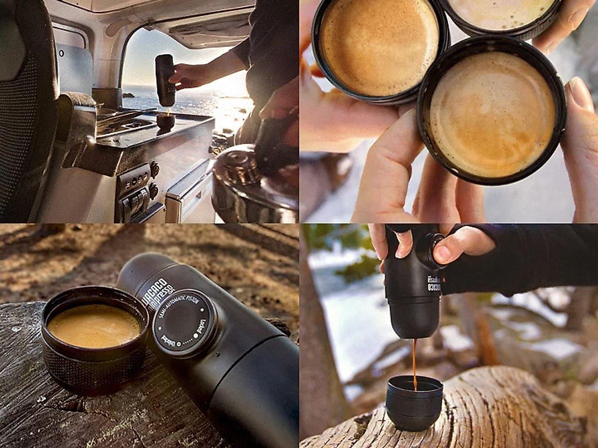 Review máy pha cà phê cầm tay Wacaco Minipresso GR