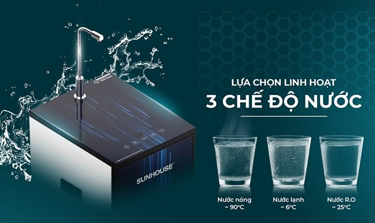 máy lọc nước R.O nóng lạnh cảm ứng Sunhouse Slimbio SHA76214CK-S